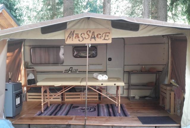 Campeggio - Zona massaggi
